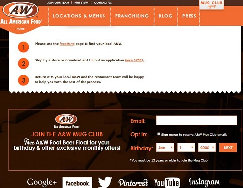 A&W Job Application Apply Online