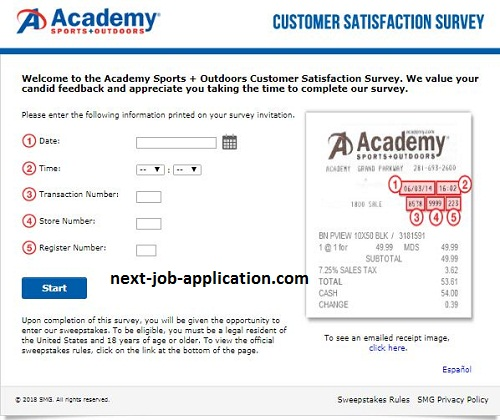 Academy customer feedback survey