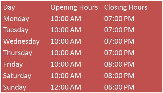 Bloomingdale's Hours of Operation