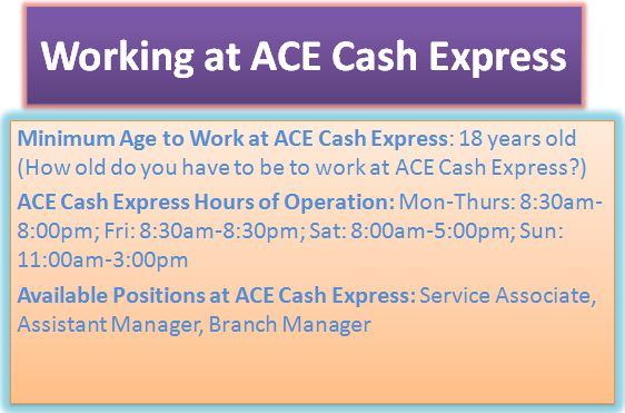 Working at ACE Cash Express