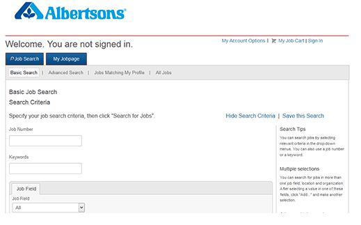 Albertsons Jobs, Employment