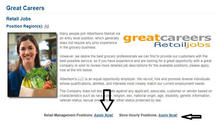 Albertsons Reatail jobs