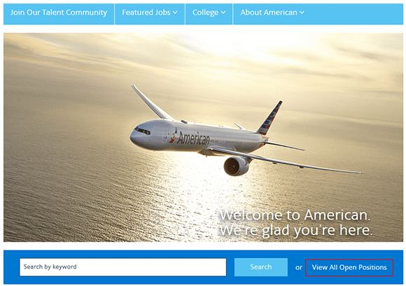 American Airlines Job Application 1