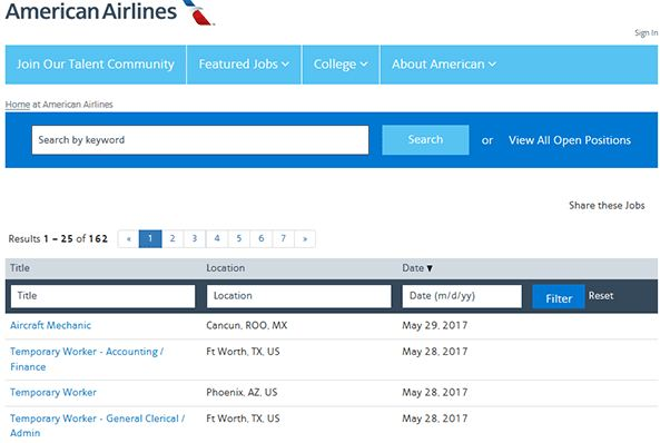 American Airlines Job Application 2