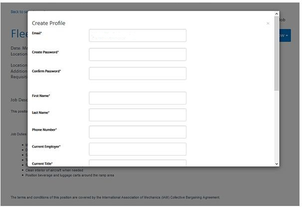 American Airlines Job Application 4