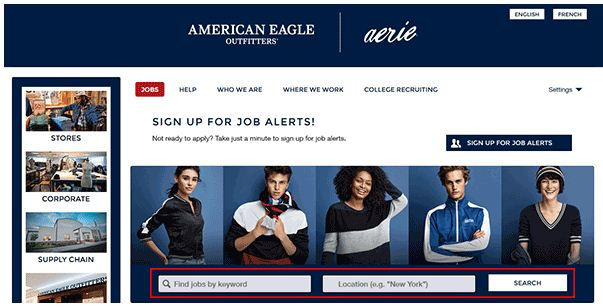 American Eagle Job Application 1