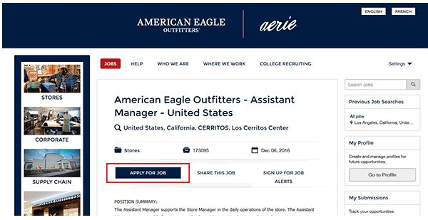American Eagle Job Application 3