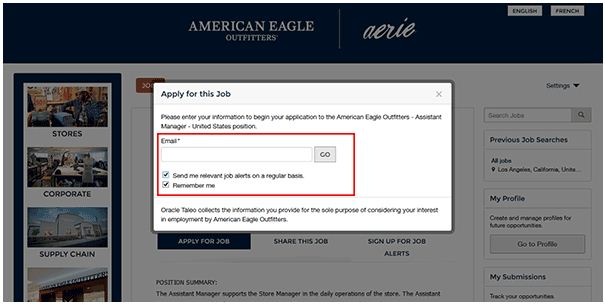 American Eagle Job Application 4