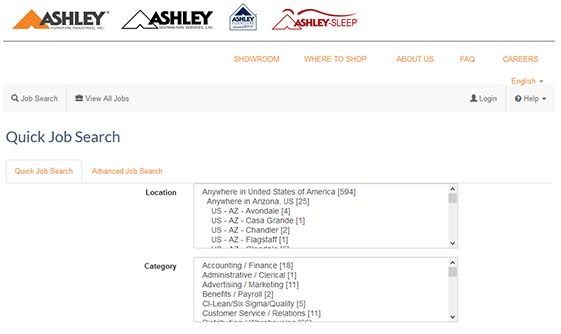 Ashley Furniture Job Application 2