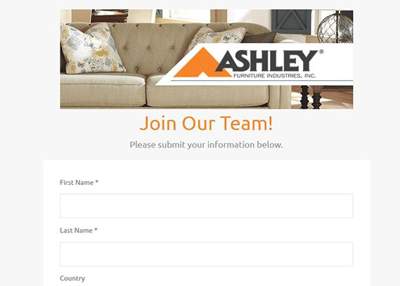 Ashley Furniture Job Application 4