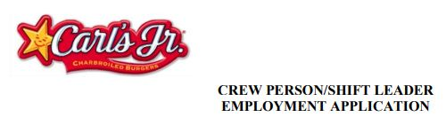 photo relating to Carls Jr Job Application Form Printable titled Carls Jr. Endeavor Software program, Work opportunities Work On the net Employing